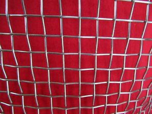 """304 #2 .063 Stainless Steel Welded Wire 17/"""" x 17/"""" Quality Stainless Steel Mesh"""