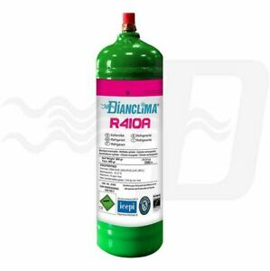 Details about Dianclima spray can gas R410A refrigerant rechargeable 800 gr  cylinder