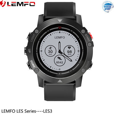 LEMFO LES3 Impermeable Reloj Inteligente GPS Frecuencia Cardíaca For Android IOS