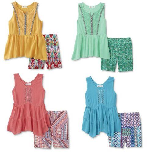 Girls Tank Top /& Bike Shorts 2 Piece Set Plus Size Med or Lg Reg $36 w//tags