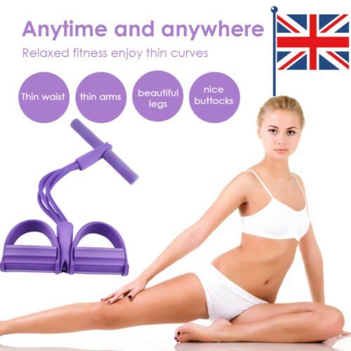 Adult Multi-Function Tension Rope Fitness Pedal Exerciser Rope Pull Bands New UK
