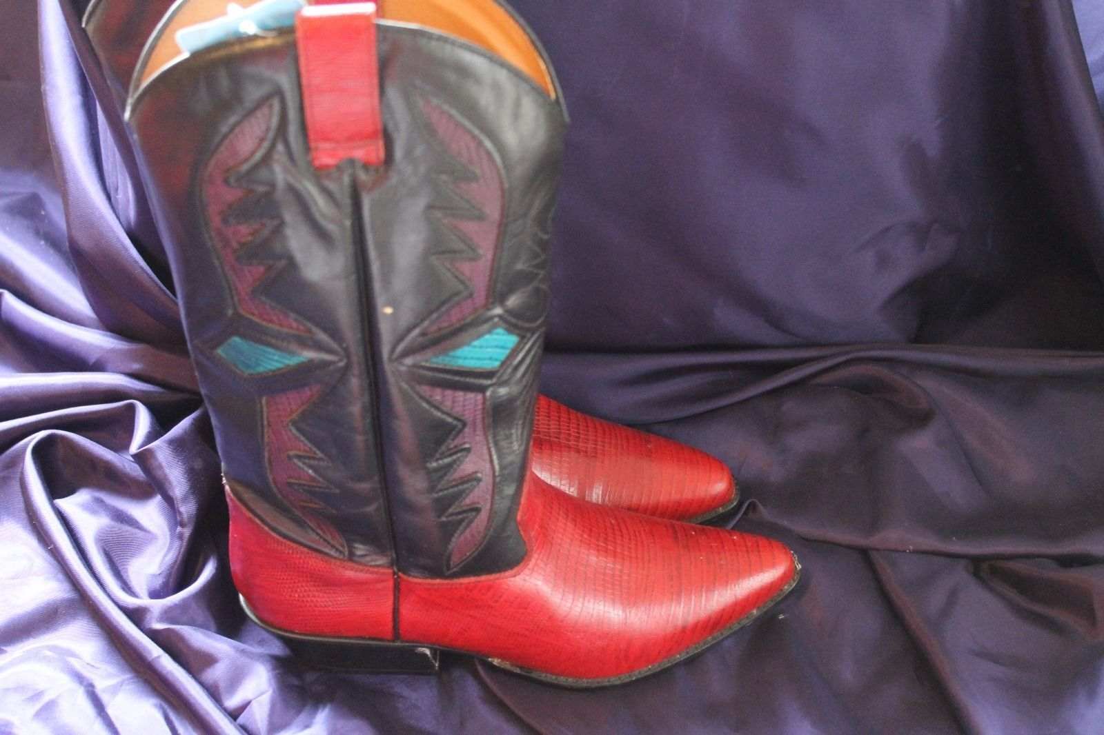 Women's Trennis Multi-colord Multi-colord Multi-colord Western Cowboy Boots Size 8 M Made in Brazil c9d383