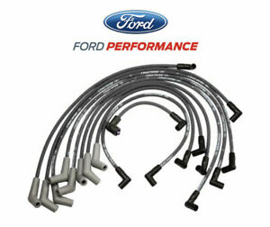 5.0L 5.8L Mustang Ford Racing 9MM Engine Spark Plug Ignition Wire Sets - Black