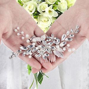 Wedding Hair Comb Silver Rhinestone Bridal Hair Accessories for Bride Bridesmaid