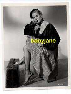Details About Beverly Michaels Original 8x10 Photo Pinup In Fishnet Stockings 1950 Pick Up