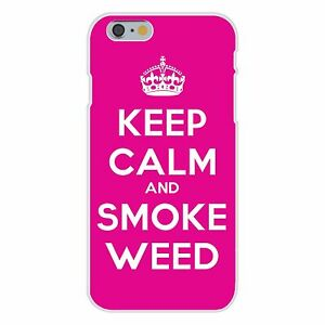Keep-Calm-and-Smoke-Weed-Crown-FITS-iPhone-6-Plastic-Snap-On-Case-Cover-New