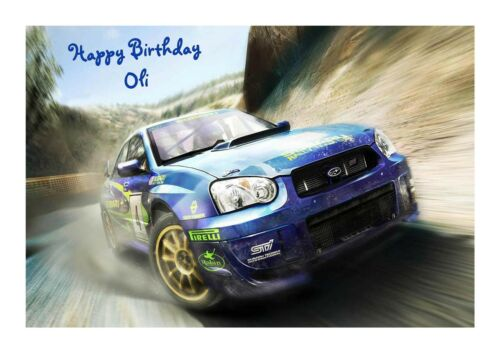 Subaru Birthday Personalised A5 Card Uncle Dad Mum Cousin Pal Nephew Son Brother