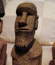 "Authentic Easter Island Moai Statue ""Garden Tiki"" -RARE- ""Kneeling Moai Replica"""