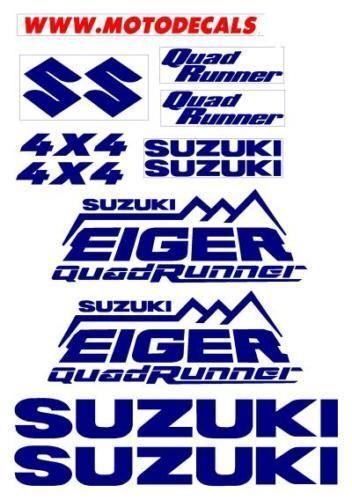 Sticker Decal Graphic Kit for Suzuki Eiger Quad Runner Plastic Fender Tank