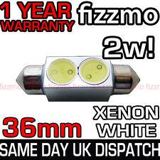 36MM INTERIOR LIGHT NUMBER PLATE FESTOON BULB 2w HIGH POWER SMD LED XENON WHITE