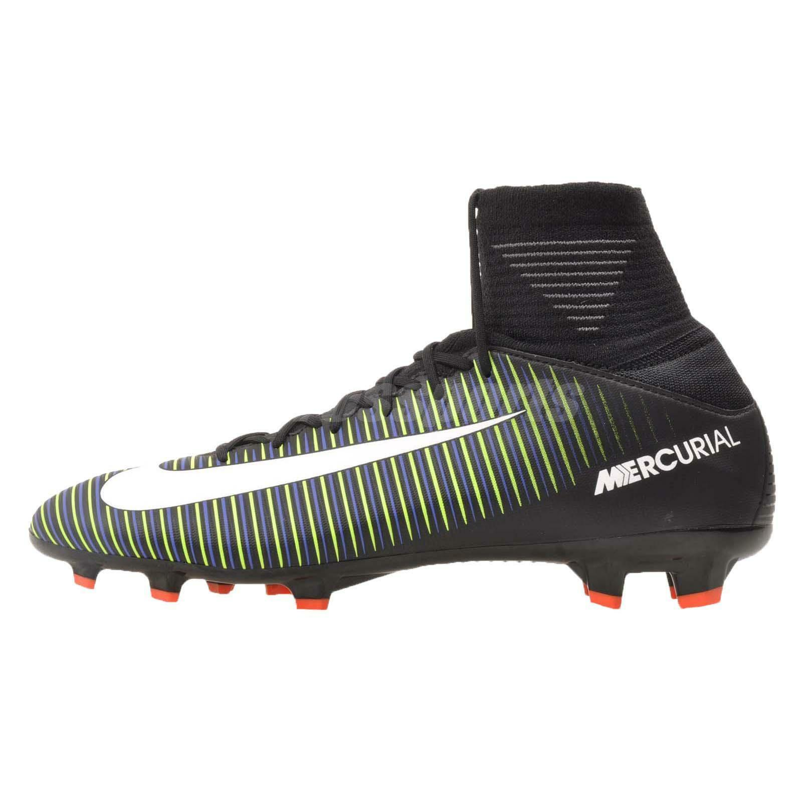 Nike JR Mercurial Superfly V FG Kids Youth Soccer Cleats Noir Green 31943-013