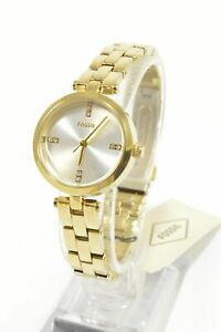 Fossil-BQ7025-Caila-Gold-Dial-Stainless-Steel-Ladies-Watch
