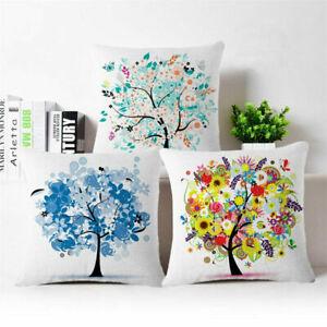 Cotton-Linen-Tree-of-life-Throw-Pillow-Case-Cushion-Cover-Home-Decor-18-034-18-034