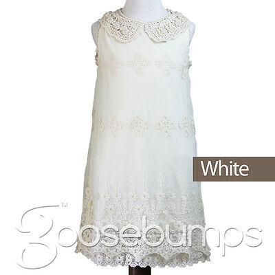 NEW Flower Girl Dress Princess Vintage Special Occasion Party Wedding Lace PL