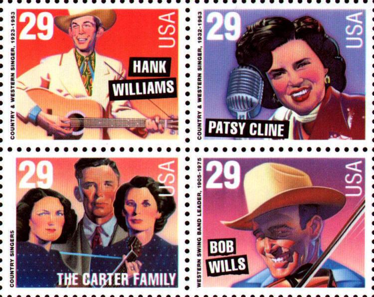 1993 29c Country & Western Music, Block of 4 Scott 2771