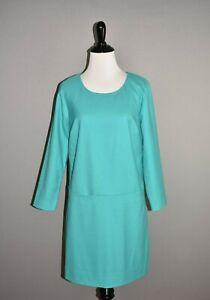 J.CREW $79 Turquoise Factory Draped Shift Dress w/ Pockets Size 2
