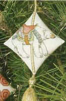 Polar Bear Carousel Ornament Cross Stitch Pattern Chart From Magazine 2 Designs