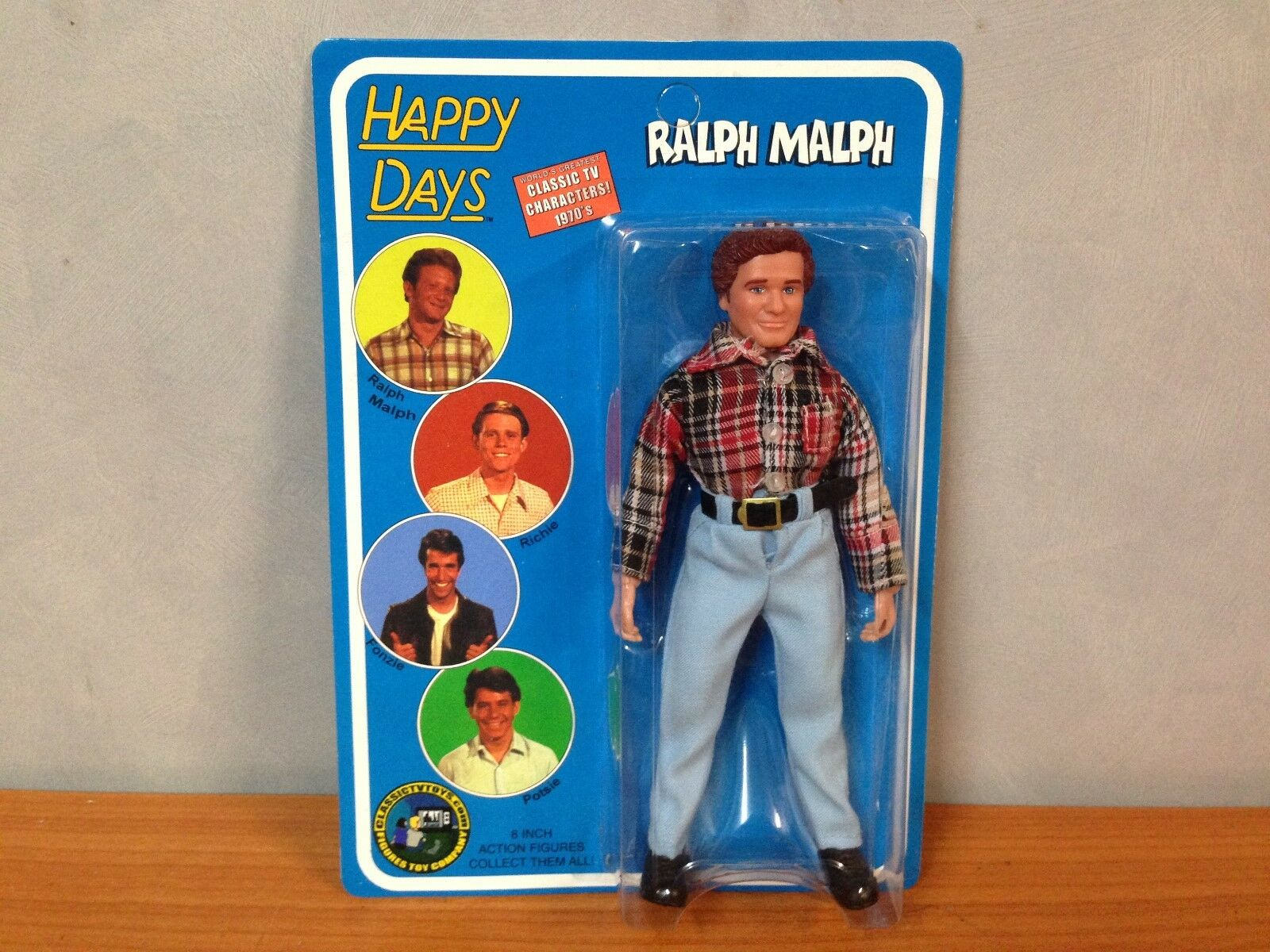 Happy Days Series 1 8inch Action Figure - Ralph Malph - MOSC