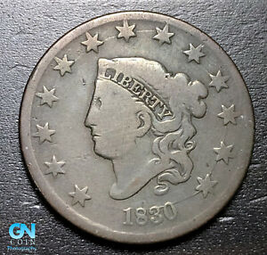 1830-Coronet-Head-Large-Cent-MAKE-US-AN-OFFER-B3645