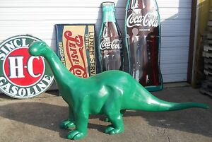 SINCLAIR-DINO-8-039-FOOT-CAST-ALUMINUM-Dinosaur-Mobile-Texaco-Gulf-Gas-amp-Oil-SIGN