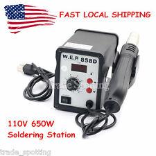 858D-110V WEP Hot Air Gun Rework Station BGA Solder Soldering Reballing US Stock