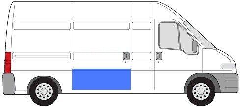 Tôle réparation porte coulissante partie arrière 52cm BJ 94-06 FIAT DUCATO II//JUMPER//Boxe