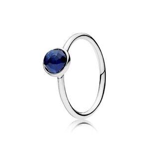 Pandora 925 191012ssa Birthstone September Syn Sapphire Droplet