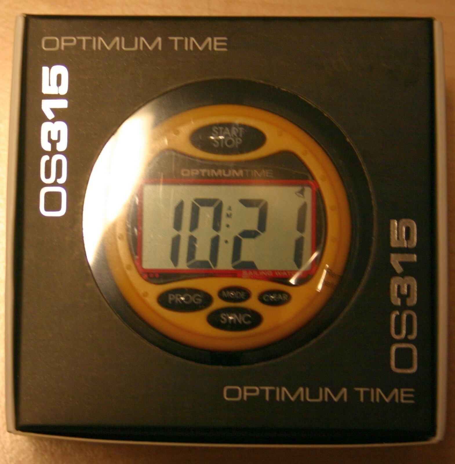 Regattauhr Time Optimum Time Regattauhr OS315 Jumbo Gelb 59420e