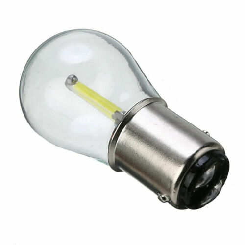 2X 1157 BA15D 12V COB LED Car Reverse Backup Tail Brake Light Lamps Bulbs White