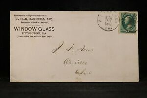 Pennsylvania-Pittsburgh-1877-8-Duncan-Campbell-Window-Glass-Cover-Fancy-Cancel