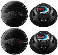 4) Boss Mr50b 5.25 2-way 300w Marine/boat Car Coaxial Audio Speakers Black on sale
