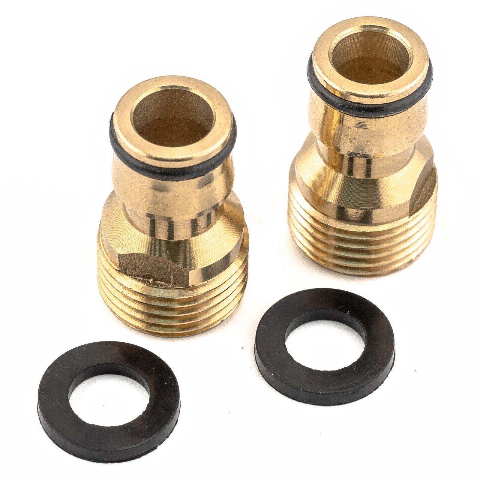 2pc Australian Brass Adaptor Male 15mm 1/2