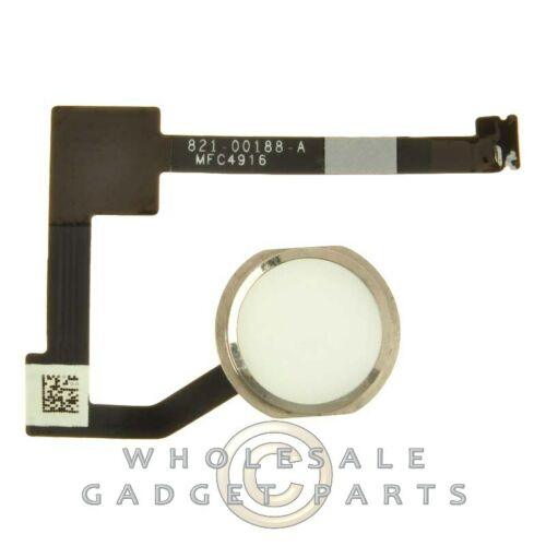 Home Button Assembly for Apple iPad Mini 4 White with Silver Ring