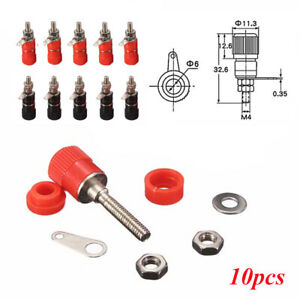 10pcs-Universal-Banana-Socket-Binding-Post-Nut-Banana-Plug-Jack-Connector