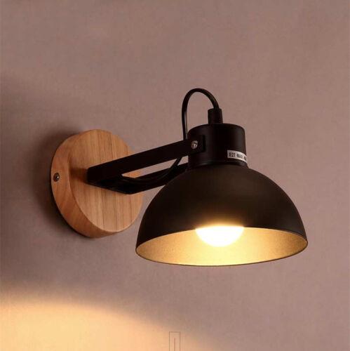 Rerto Industrial Wall Lamp Sconce Light Swing Fixture Bedroom Loft Garden Decor