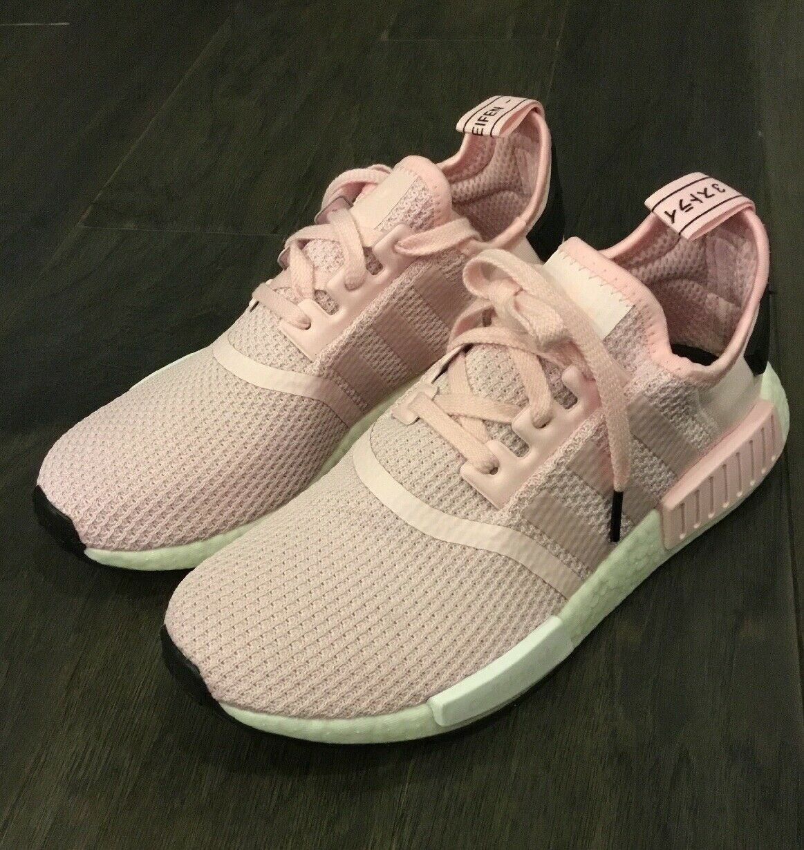 f82b12f4b Women s Adidas NMD R1 W shoes Sneakers B37648 Size 6 Pink Boost New Rare