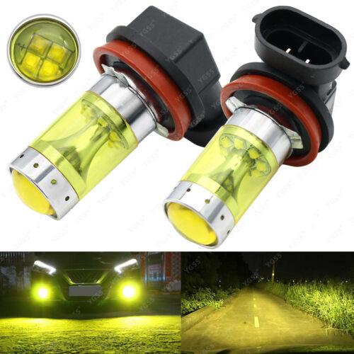 2x H11 H8 CREE Led Yellow Fog Light Bulbs 4300K 80W 2000LM Super Bright DRL