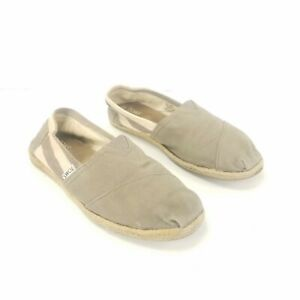 Toms-Slip-On-Wrap-Style-Canvas-Brown-Tan-Flats-Shoes-Womens-Size-7-5