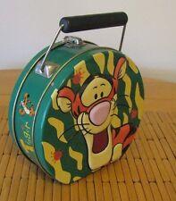 Disney Tigger Lunch Box Tin Storage Container Purse / handbag w/ Carry Handle