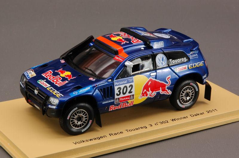 Vw Race Touareg 3 #302 #302 #302 Winner Dakar 2011 1:43 Spark S0823 Modellino | Léger  b71bc1