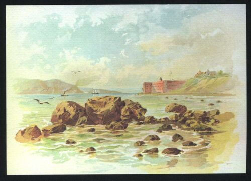 c.1880s SAN FRANCISCO FORT POINT,GOLDEN GATE /& BAY~NEW c.1980 NOTE CARD//POSTCARD