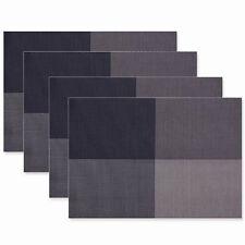 XLW Placemats Non-slip Insulation PVC Mats Set of 4 Woven Vinyl Table Placemats
