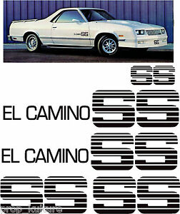 CHOO CHOO CUSTOMS STYLE EL CAMINO SS DECAL STICKER KIT DECALS STICKERS STRIPE