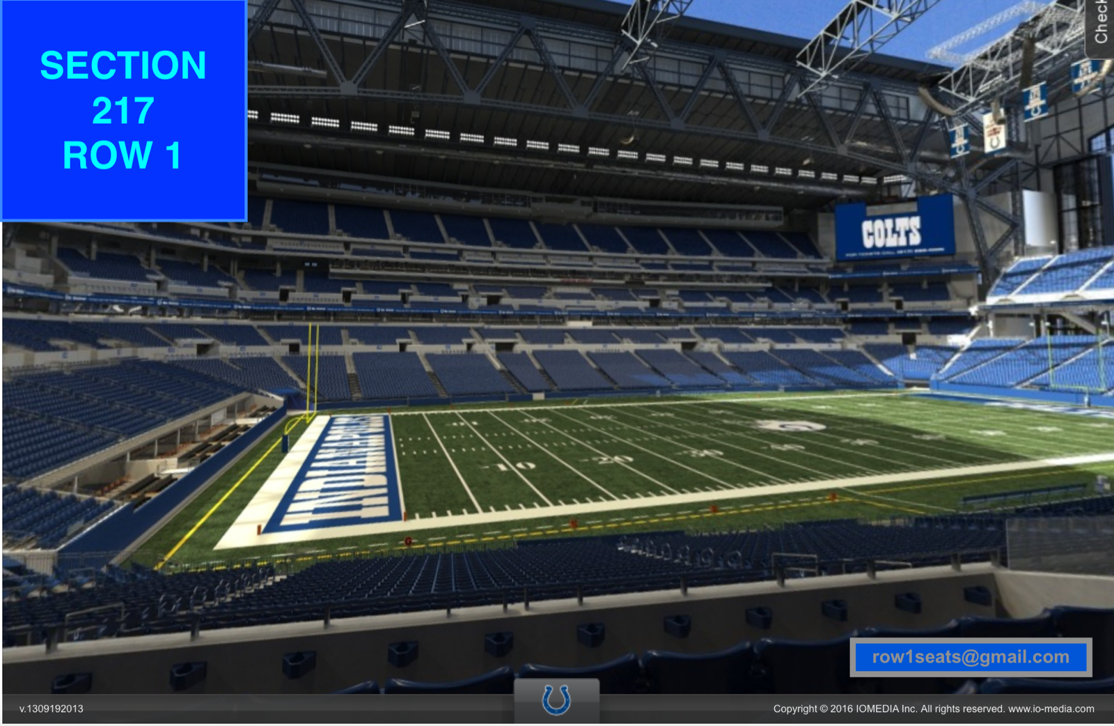 bbd52927 Details about 4 Front row Chicago Bears at Indianapolis Colts preseason  tickets Sec 217 row 1