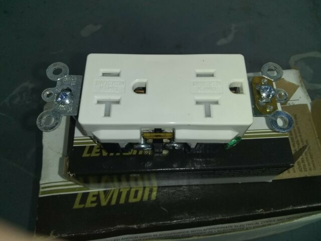 10 Leviton TDR20-T 20 Amp 125V Decora Plus Duplex Receptacle Outlet Lt Almond
