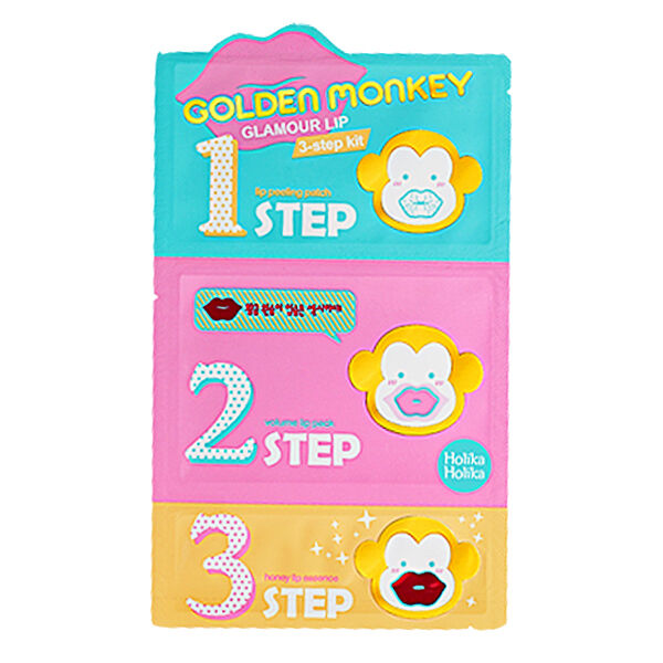 [HOLIKA HOLIKA] Golden Monkey Glamour Lip 3step Kit 1pcs / Korean cosmetics