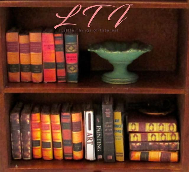 Old Legal Books 6 Miniature Books 1 12 Scale Dollhouse Prop Books Faux  Bookshelf
