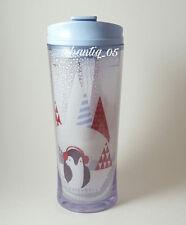 Starbucks 2016 Christmas PENGUIN Acrylic Tumbler Cup 12 Oz