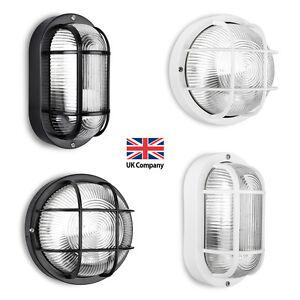 Bulkhead Exterior Wall Lights : IP44 Black / White Outdoor Exterior LED Bulkhead Security Wall Light Lamp Lights