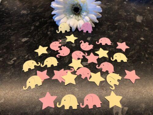 Birthday party table confetti 200 Elephants /& StarsBaby Shower Christening